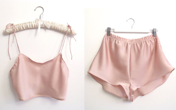 Marilyn Set in Candy Floss van AuroraLingerie op Etsy