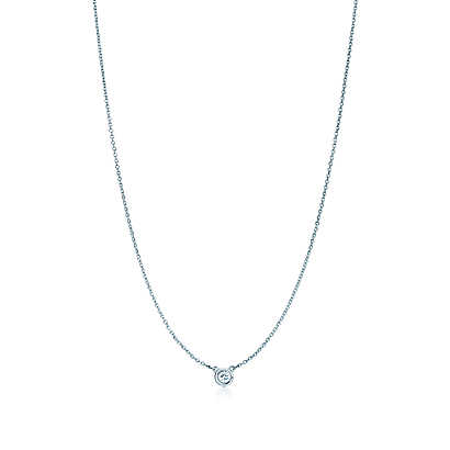Elsa Peretti® Diamonds by the Yard® pendant in sterling silver. | Tiffany & Co.
