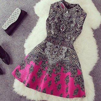 dress printed dress pink dress black dress short dress