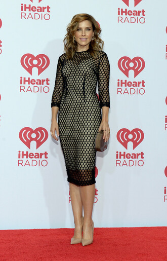 dress black sheer sophia bush bag clutch