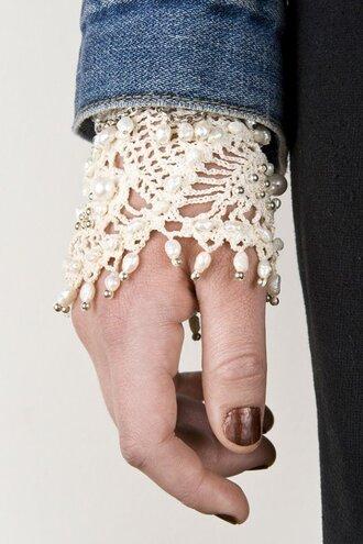 jewels sleeve crochet bracelets pearl