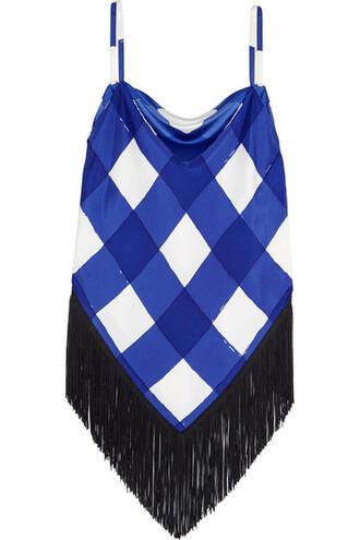 camisole blue silk underwear