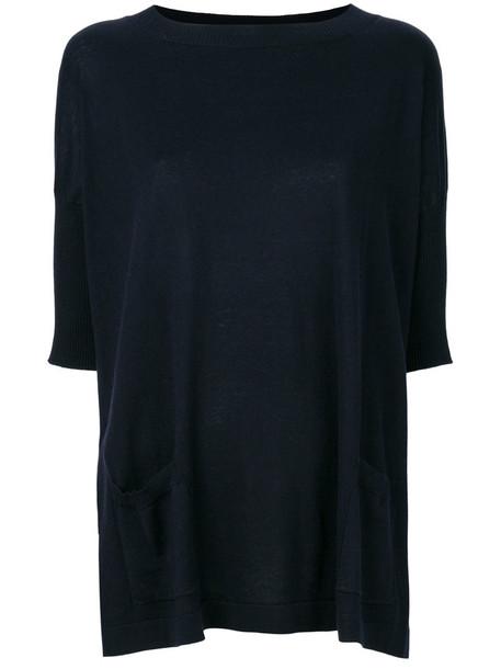 Snobby Sheep sweater knitted sweater women cotton blue silk