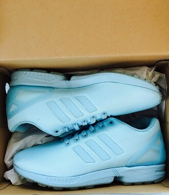 shoes adidas zx flux blue light blue adidas shoes adidas zx flux sneakers kicks fashion