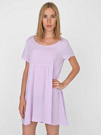 Rayon Babydoll Dress   | American Apparel