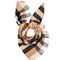 House-checked cashmere bandana scarf