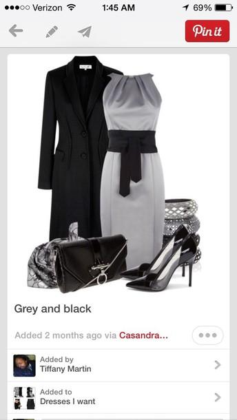 dress elegant dress coat bag