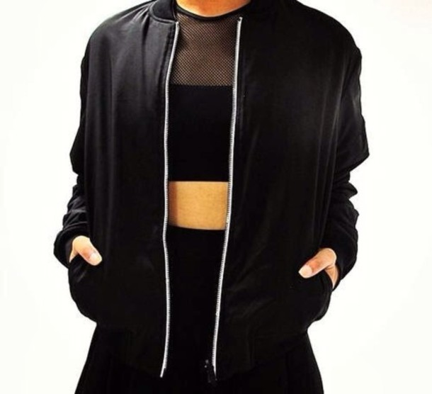 Jacket: black, all black everything, urban, streetwear, mesh, mesh ...