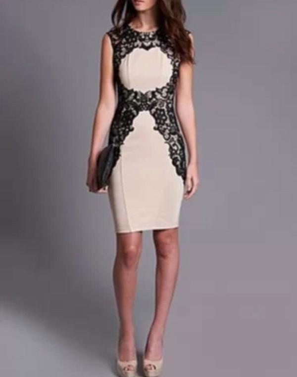 lipsy wax lace silhouette dress nude shift dress dress