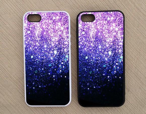 iphone case phone case glitter purple iphone 5 s cover phone