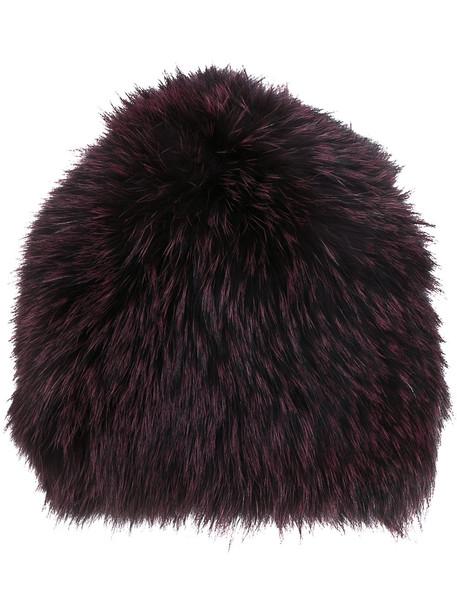 beanie purple pink hat