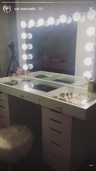 home accessory makeup table val mercado make-up furniture home furniture bedroom white white furniture white dresser white vanity
