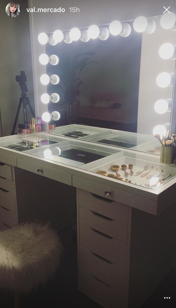 home accessory makeup table val mercado make up furniture home furniture bedroom white. Black Bedroom Furniture Sets. Home Design Ideas