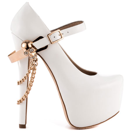 ZiGiny's White Skull Jane - White for 169.99 direct from heels.com