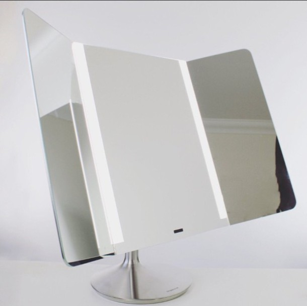 home accessory trifold mirror mirror silver make-up