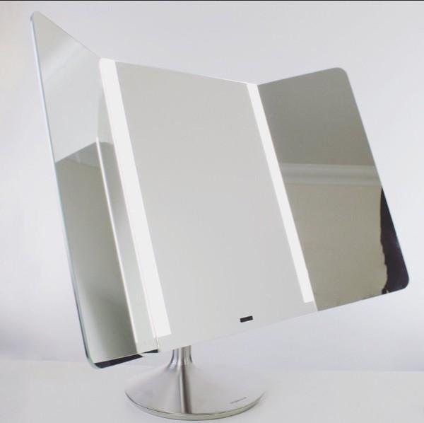 home accessory trifold mirror mirror silver make-up