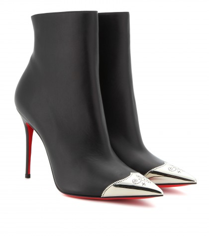 mytheresa.com -  Calamijane 100 leather ankle boots - high heel - booties - shoes - Luxury Fashion for Women / Designer clothing, shoes, bags