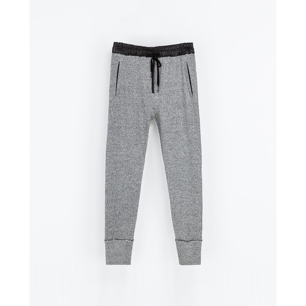 Zara Grey Velour Trousers - Polyvore