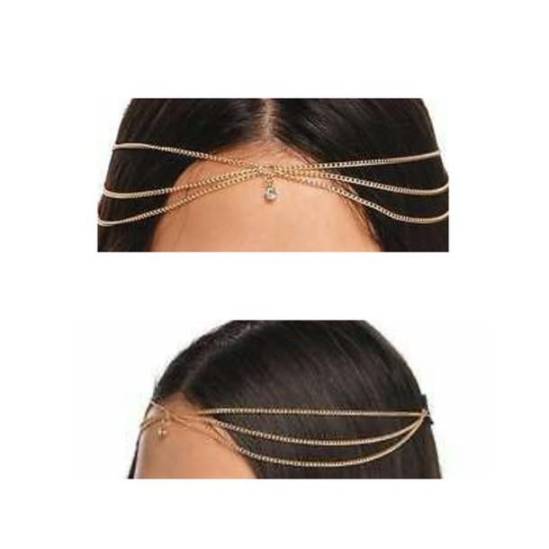 hair accessory gold hair chains head chains