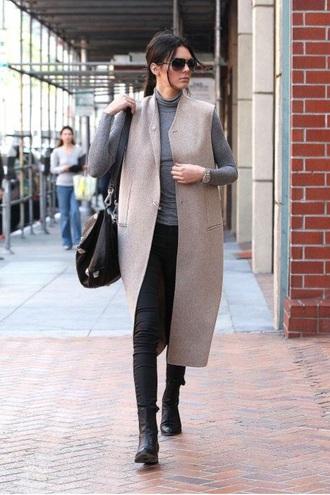 cardigan tan cardigan kendall jenner beige dress beige jacket coat