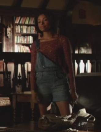 top the vampire diaries bonnie bennet kat graham lace top shortall