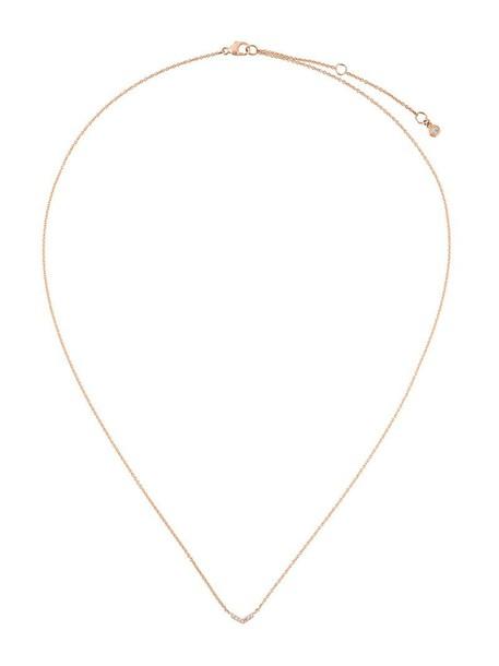 Astley Clarke rose gold rose women necklace pendant gold grey metallic jewels