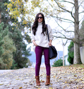 petit and sweet couture,sweater,jeans,shoes,sunglasses