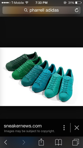 shoes pharrell williams adidas green shoes blue shoes sneakers adidas supercolor