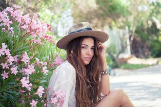 hat summer floppy hat stiff brown beach style fedora negin mirsalehi