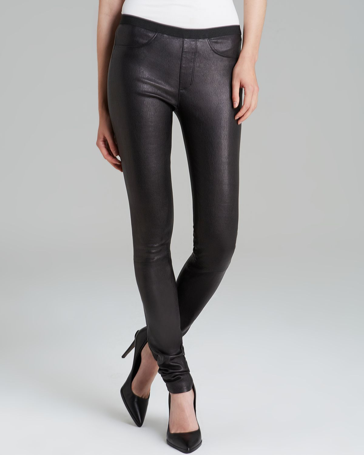 Helmut Lang Pants - Leather Skinny | Bloomingdale's