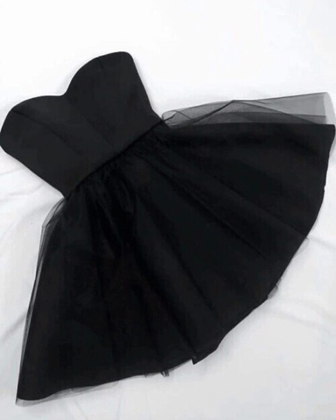 Dress Glamurous Cute Black Dress Prom Dress Prom Black Tulle