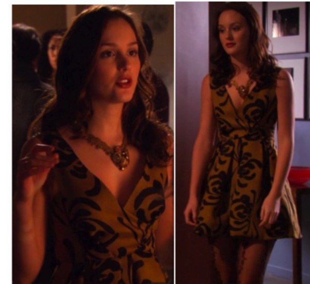 leighton meester gossip girl floral dress dress