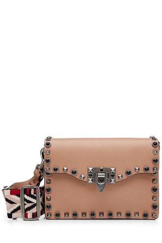 bag shoulder bag leather camel