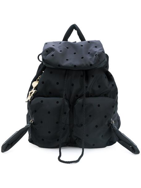 See by Chloe women backpack leather black bag