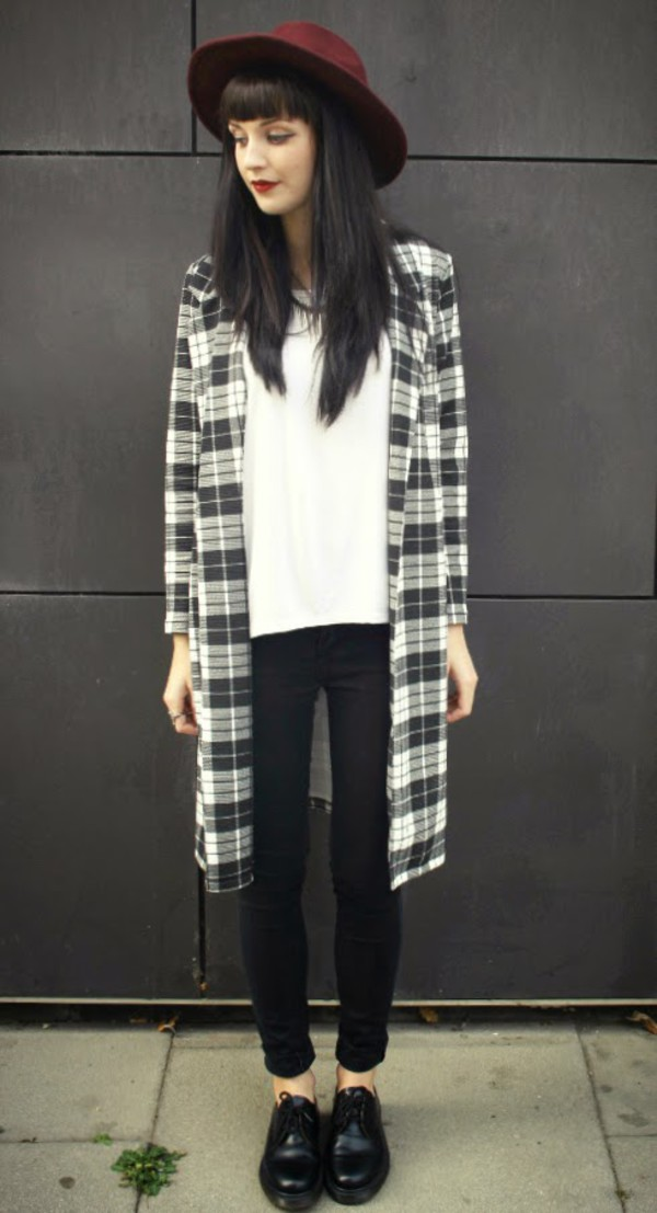 one in a million blogger jacket t-shirt black black dress white dress grunge flannel