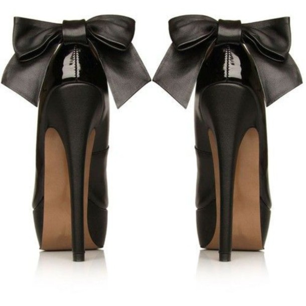 Black Heels With Bows - Shop for Black Heels With Bows on Wheretoget