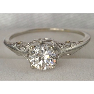 jewels 1920 platinum diamonds art deco edwardian vintage ring engagement ring filigree