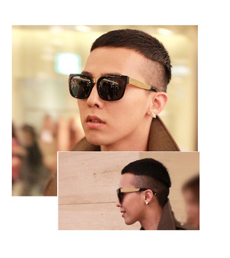 g.d bigbang sunglasses gold