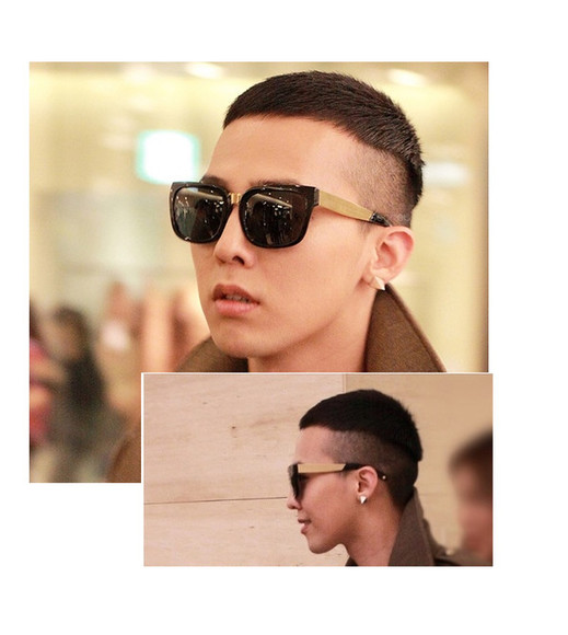 g.d bigbang sunglasses golden