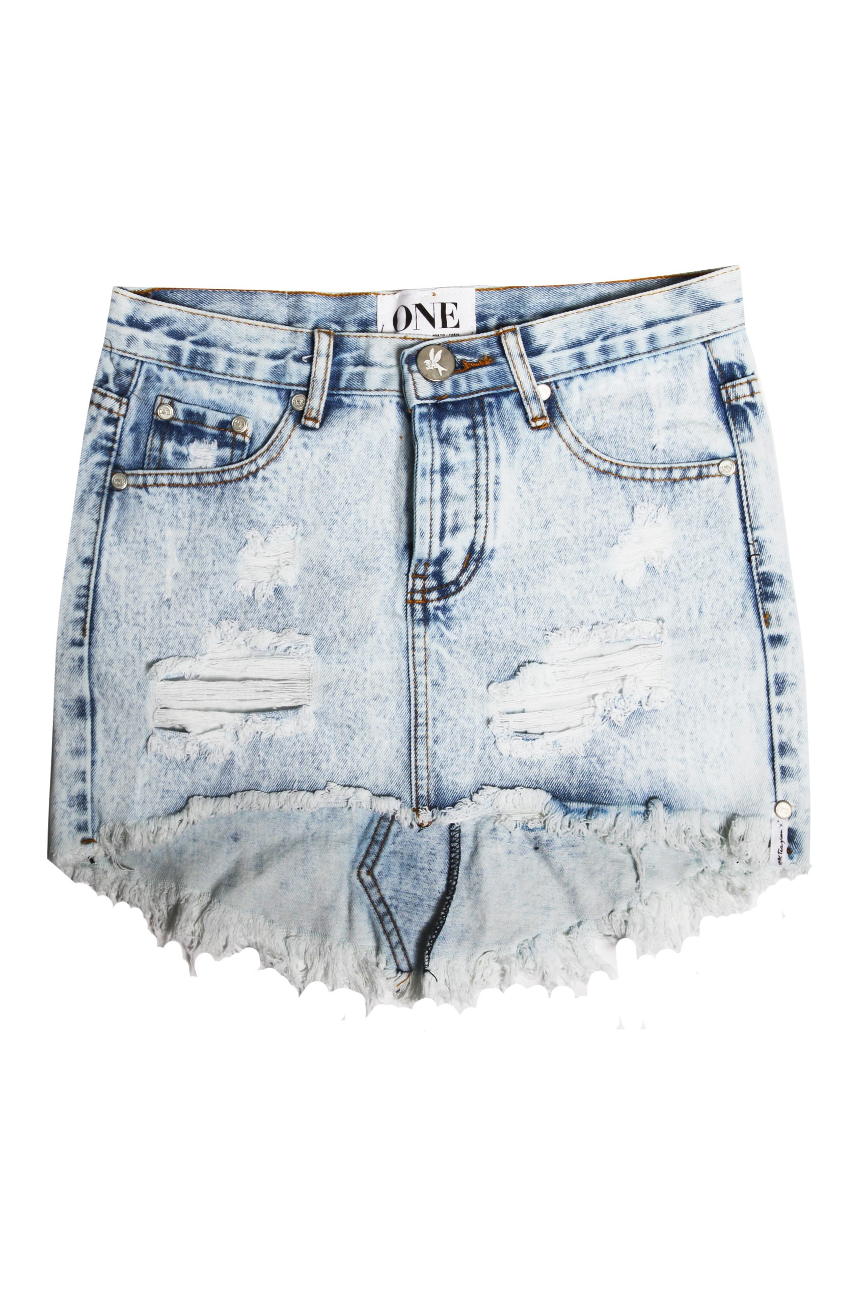 One Teaspoon Denim Miniskirt by One Teaspoon