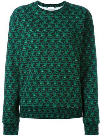sweatshirt print green sweater