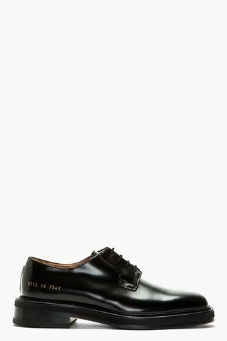 shoes derbies leather black menswear casual shoes cadet
