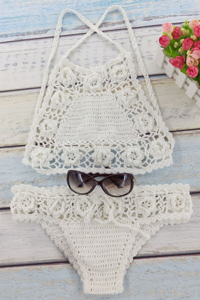 swimwear crochet fashion style beach summer hot zaful