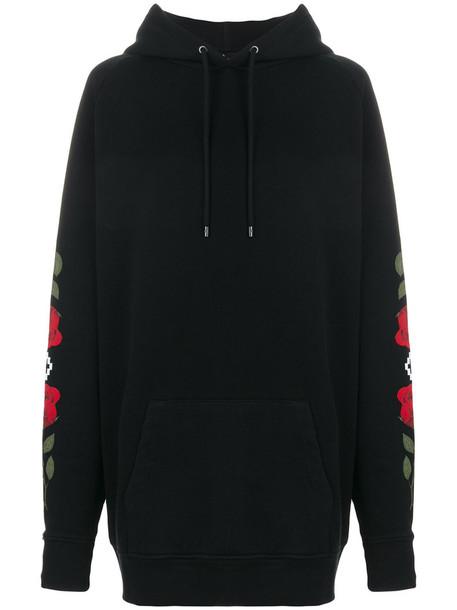 MARCELO BURLON COUNTY OF MILAN sweatshirt women spandex cotton black sweater