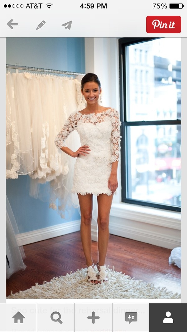 dress white dress lace dress wedding clothes