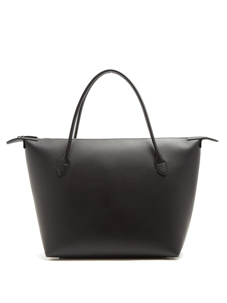 The Row leather black bag