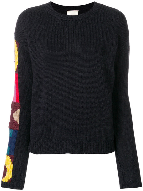 Semicouture sweater knitted sweater women blue wool