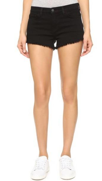 L'Agence Zoe Perfect Fit Shorts - Noir