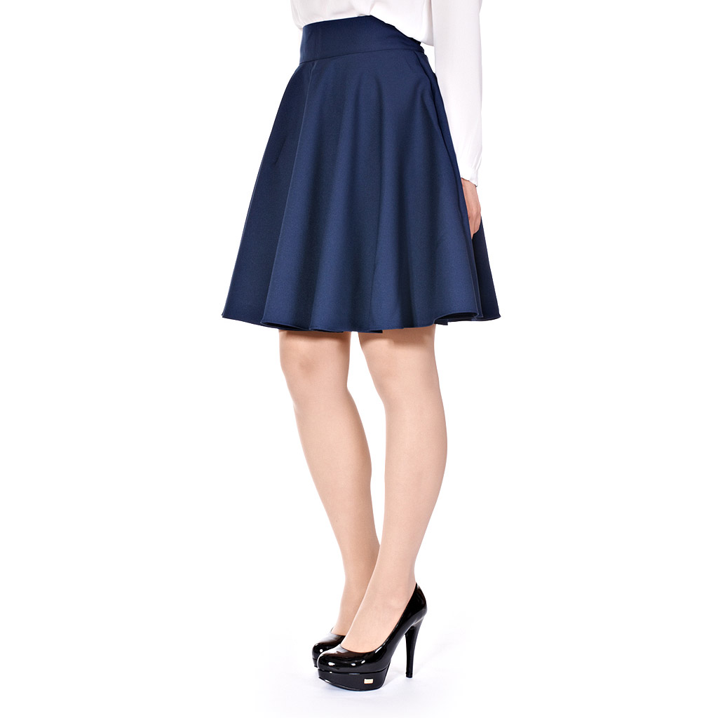 Womens Ladies Retro Feminine High Waist A Line Full Flared