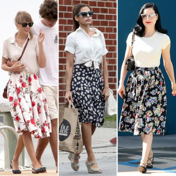 retro 50s style midi skirt floral skirt skirt vintage 50s style roses